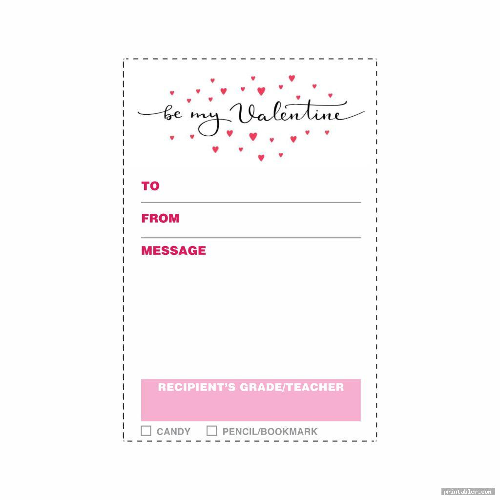 cool valentine candy gram template printable