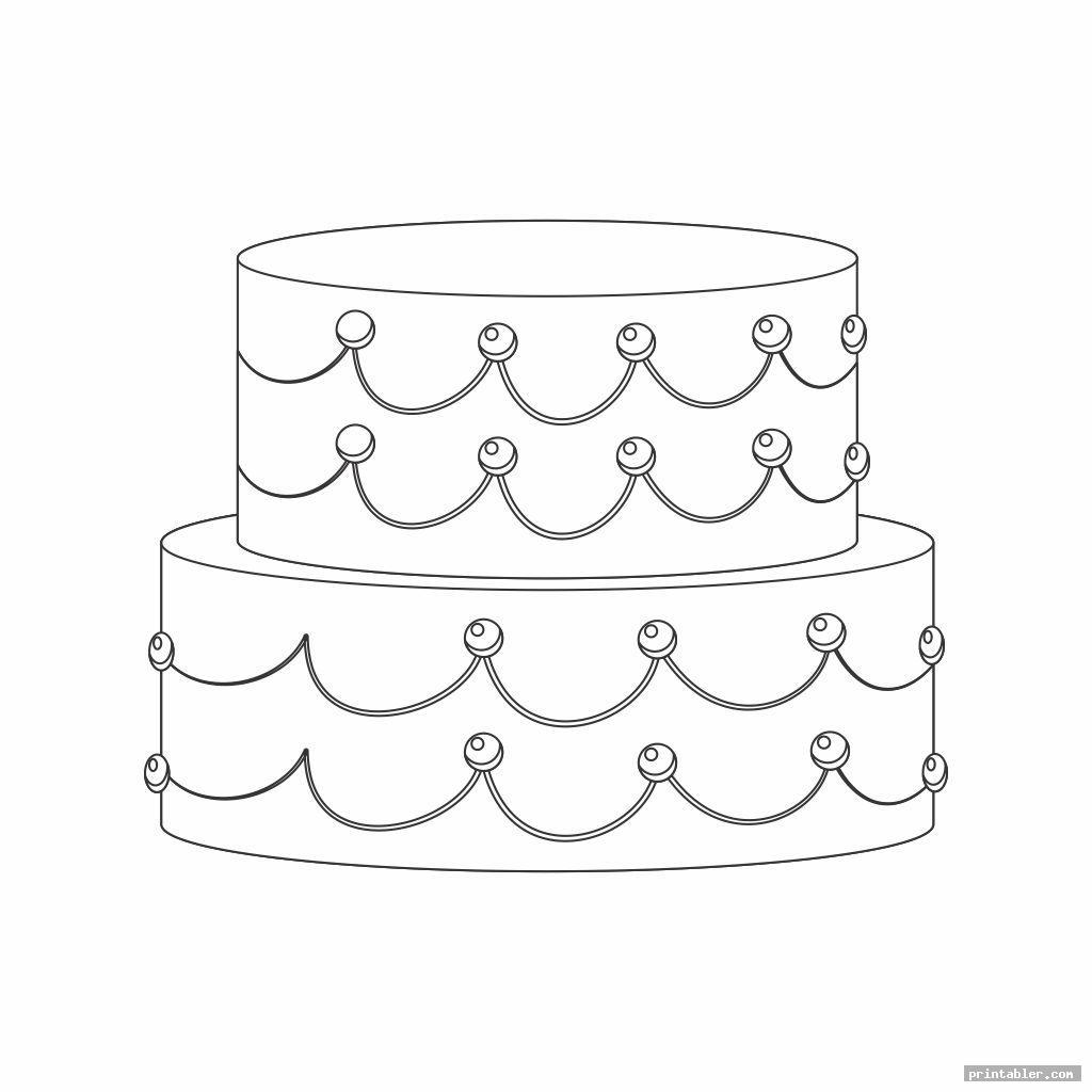 cute 2 tier cake template printable