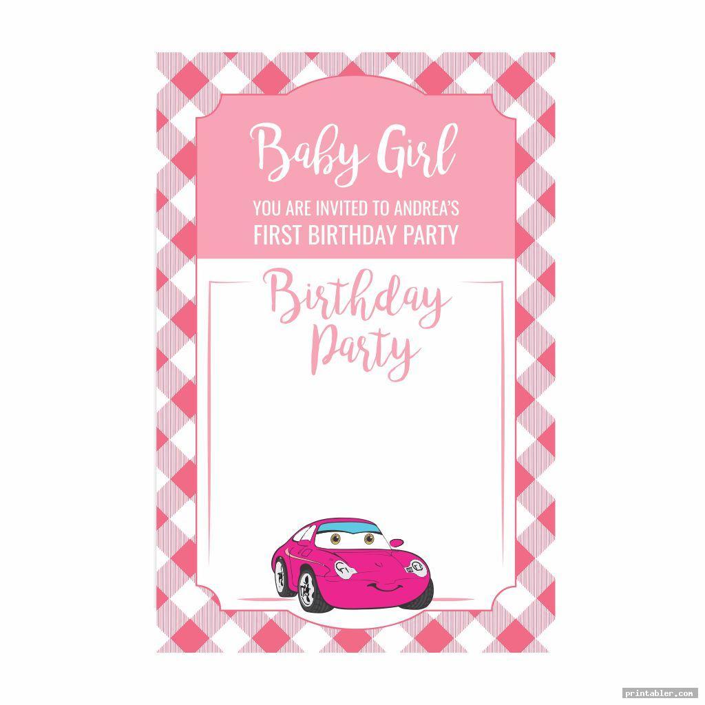 cute disney cars birthday party invitations printable