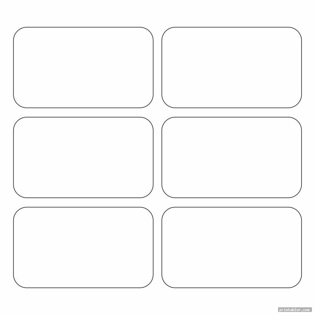 Rectangle Template Printable