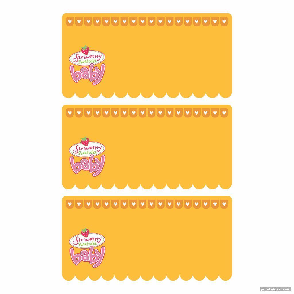 cute strawberry shortcake labels printable