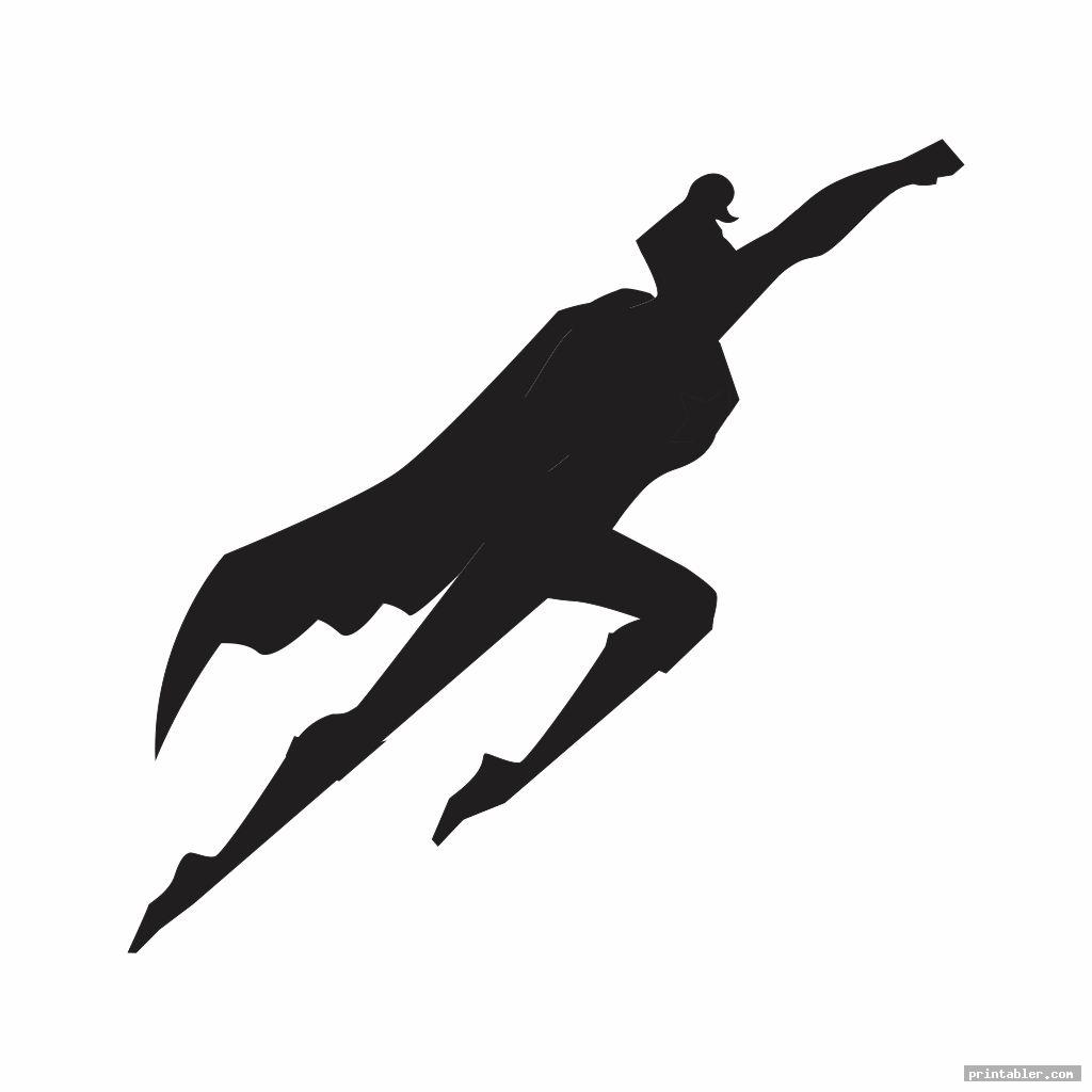 flying superman stencil printable