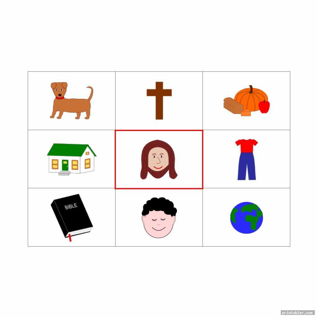 jesus bingo game printable for kids