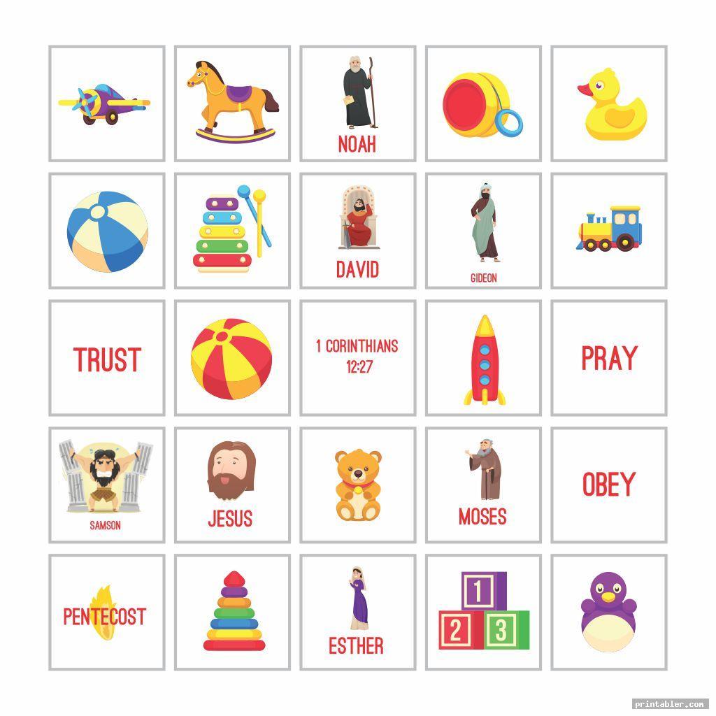 jesus bingo game printable image free