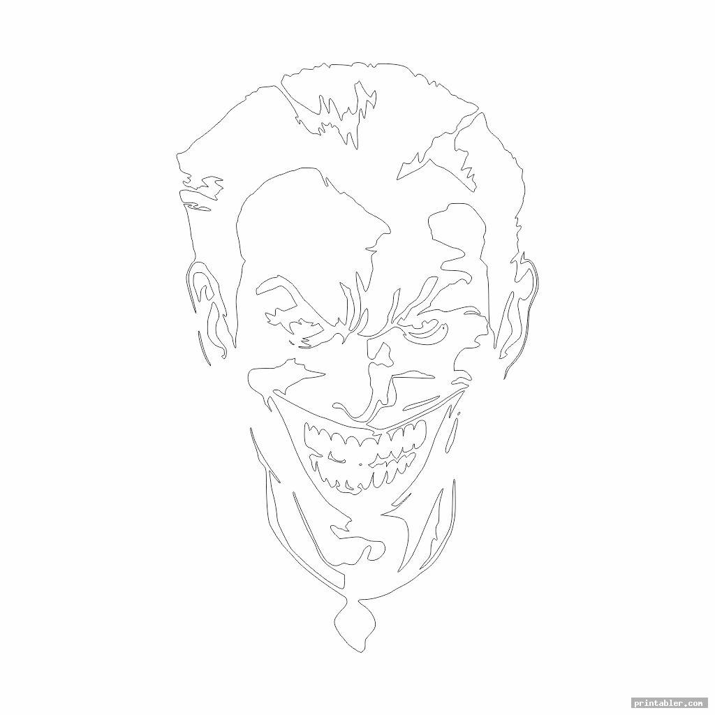 joker pumpkin template printable image free