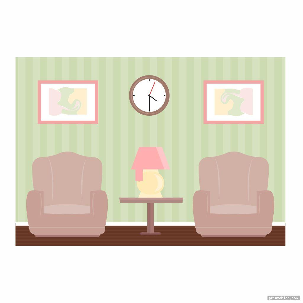 living room barbie house s printable