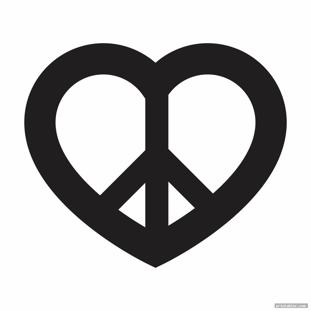love peace sign stencil printable