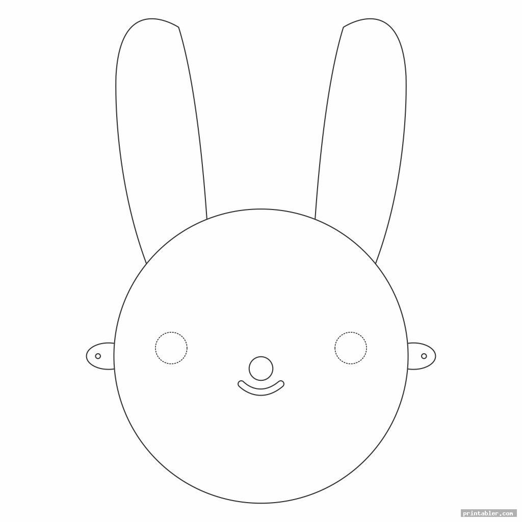 rabbit face mask template printable image free
