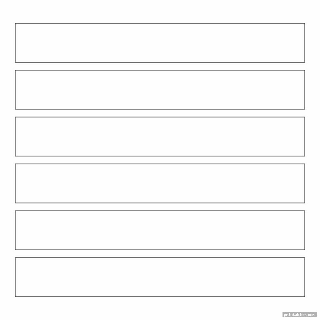 rectangle template printable for kids