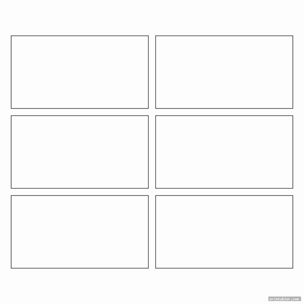 rectangle template printable image free