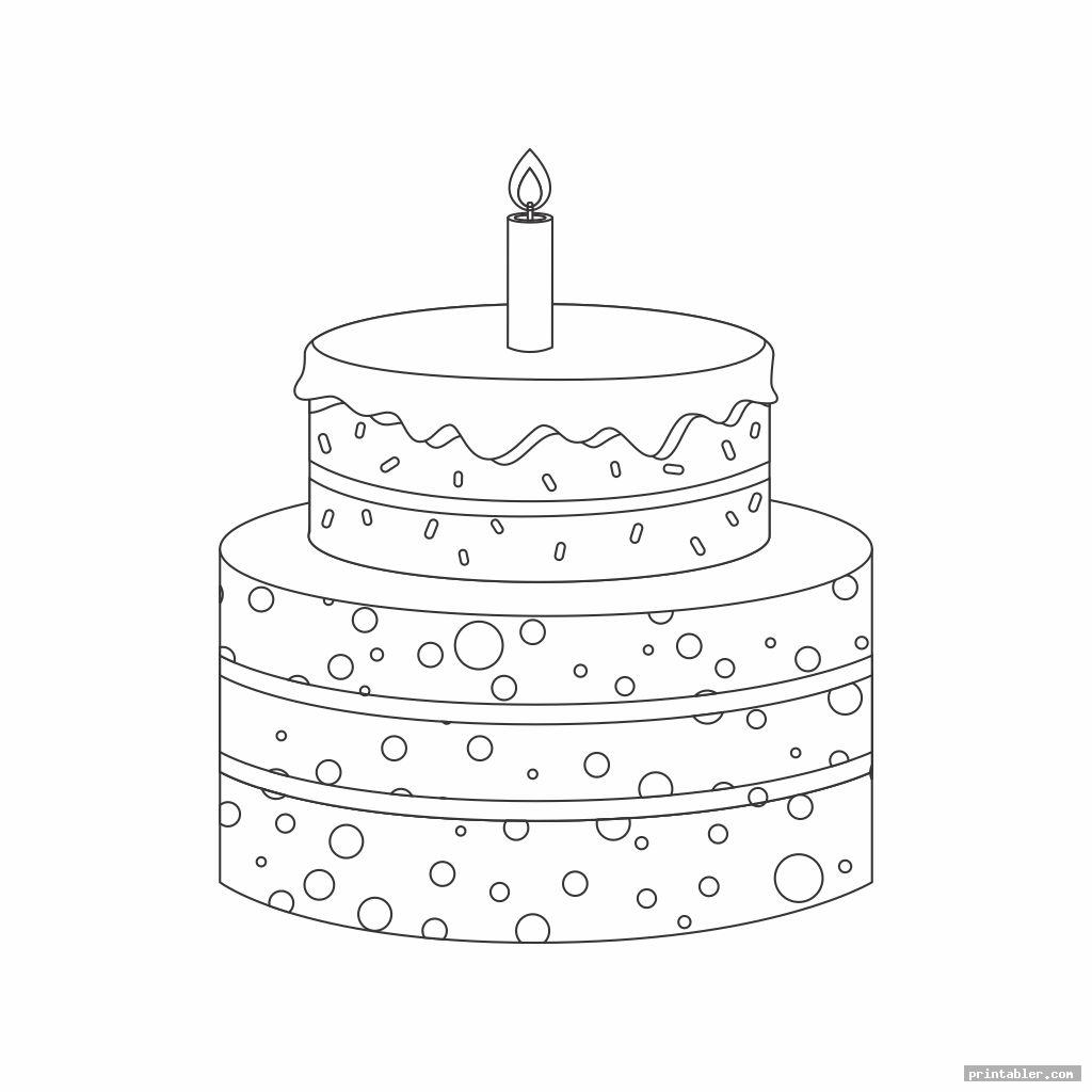 simple 2 tier cake template printable