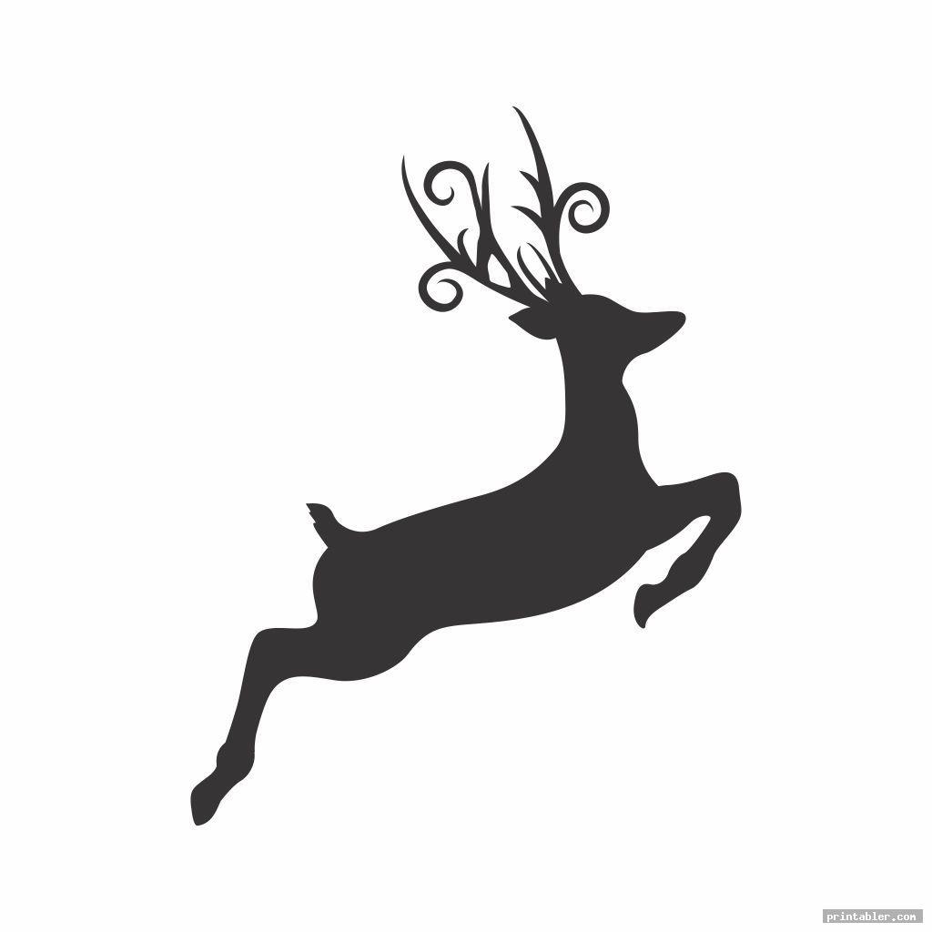 simple deer pumpkin pattern printable