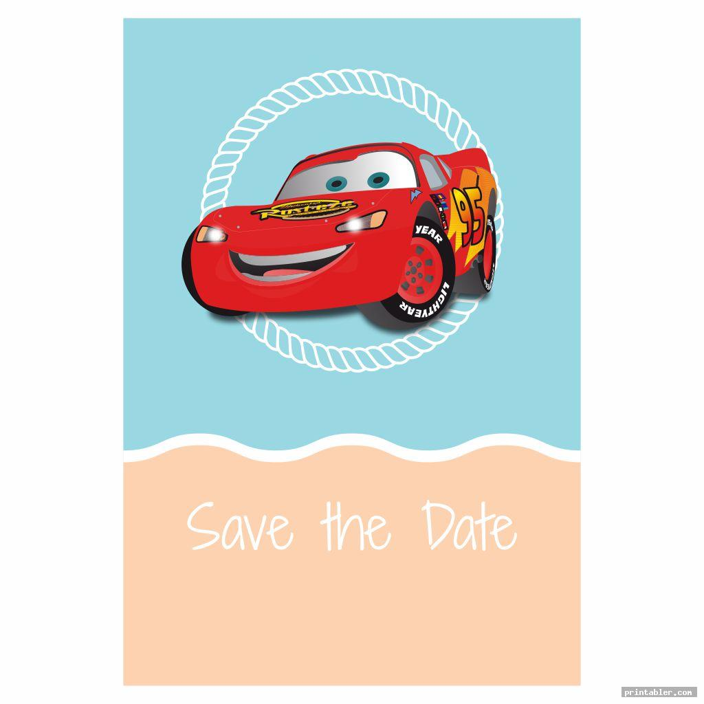 simple disney cars birthday party invitations printable