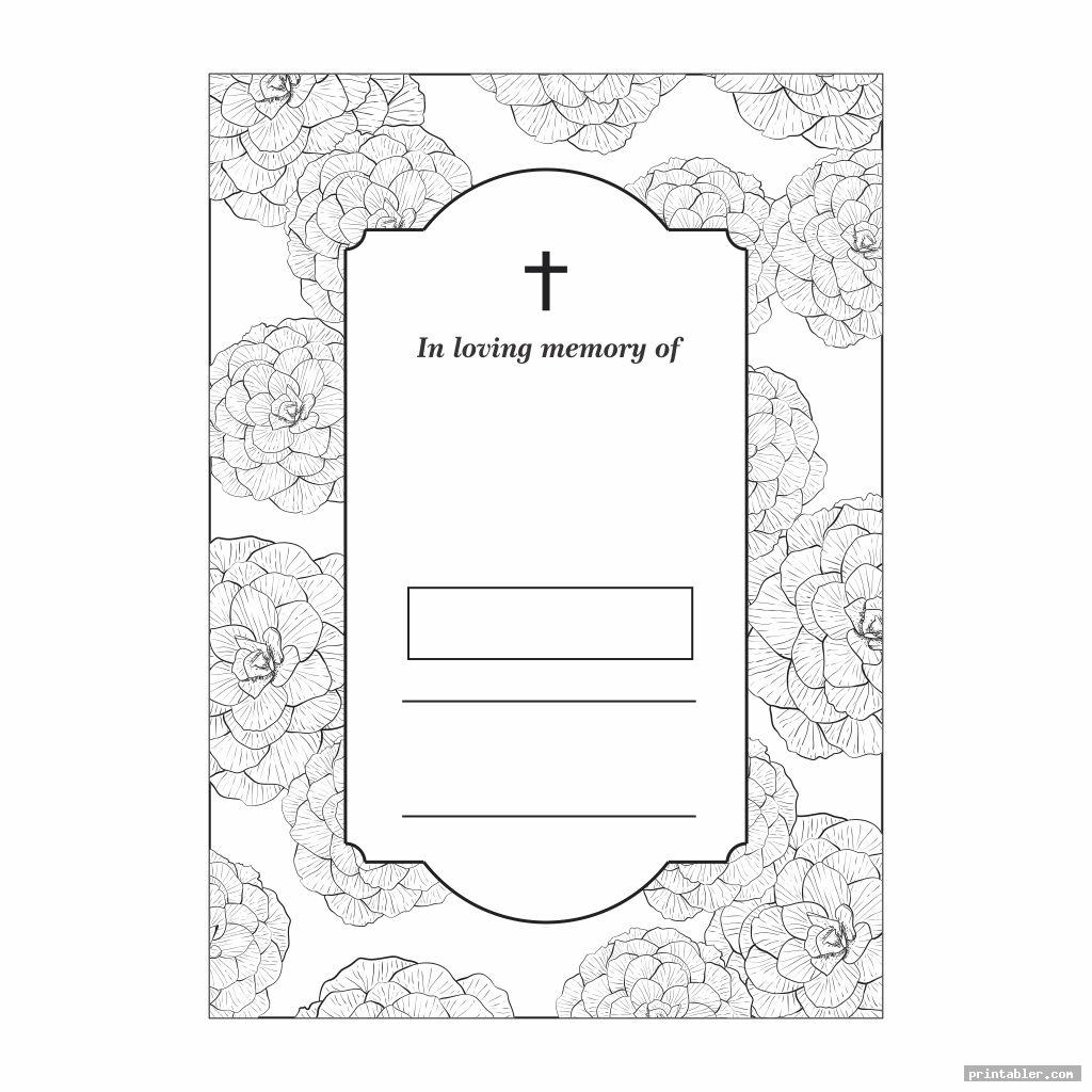 simple funeral memory cards templates printable
