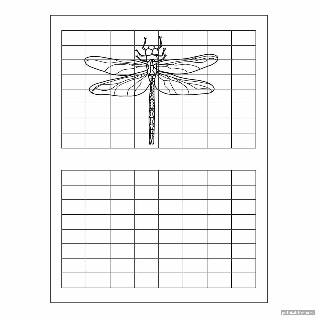 simple grid art worksheets printable