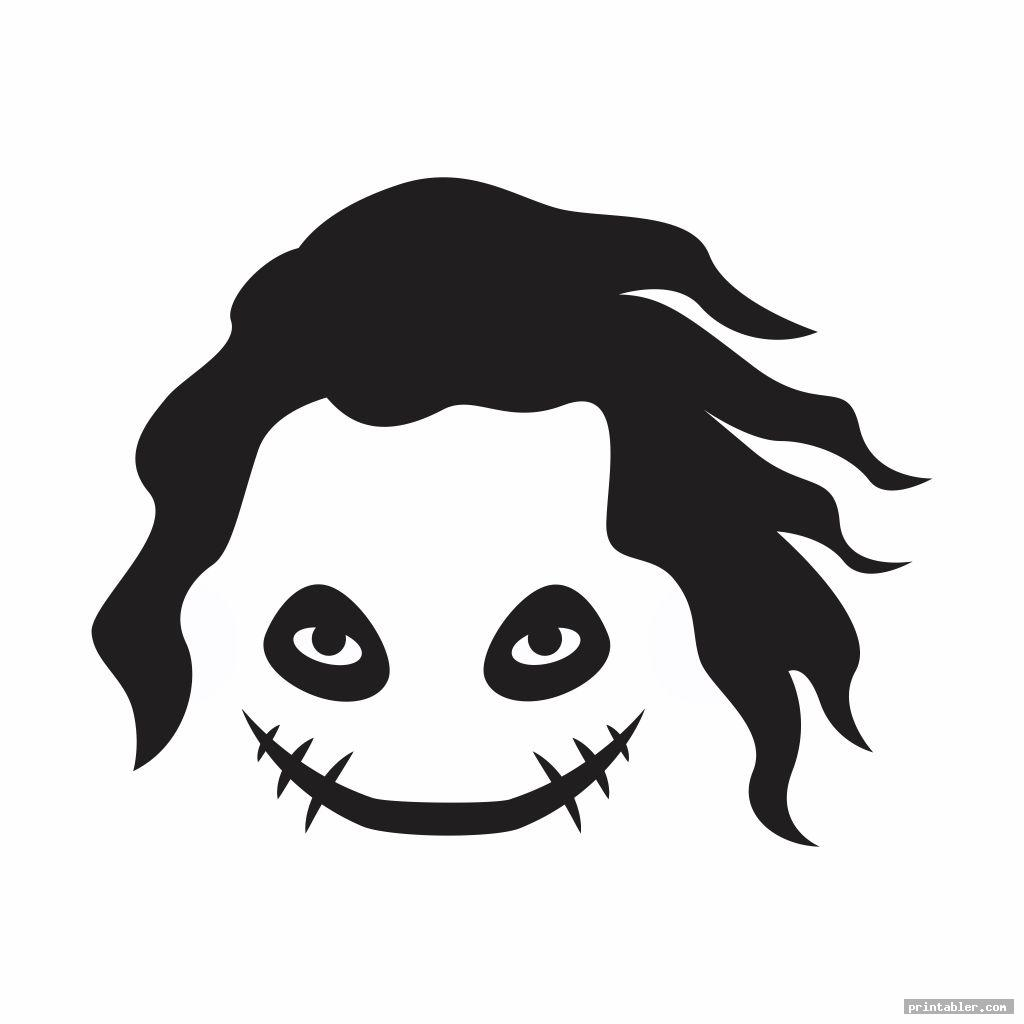 simple joker pumpkin template printable