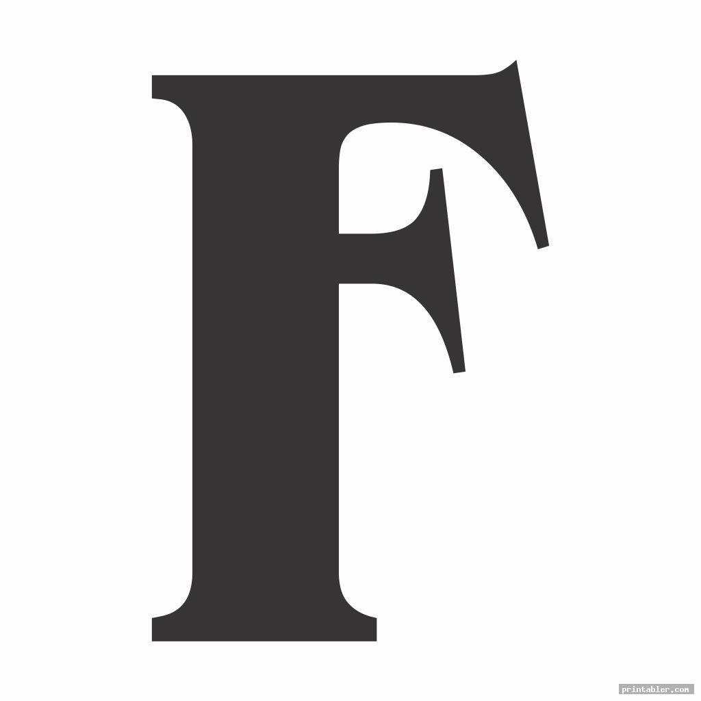 simple large letter f template printable