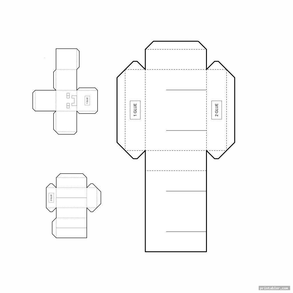 simple minecraft steve papercraft template printable