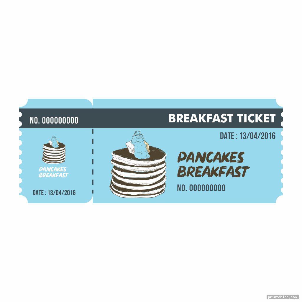 simple pancake breakfast ticket template printable