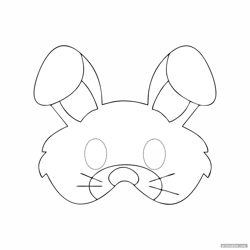 simple rabbit face mask template printable