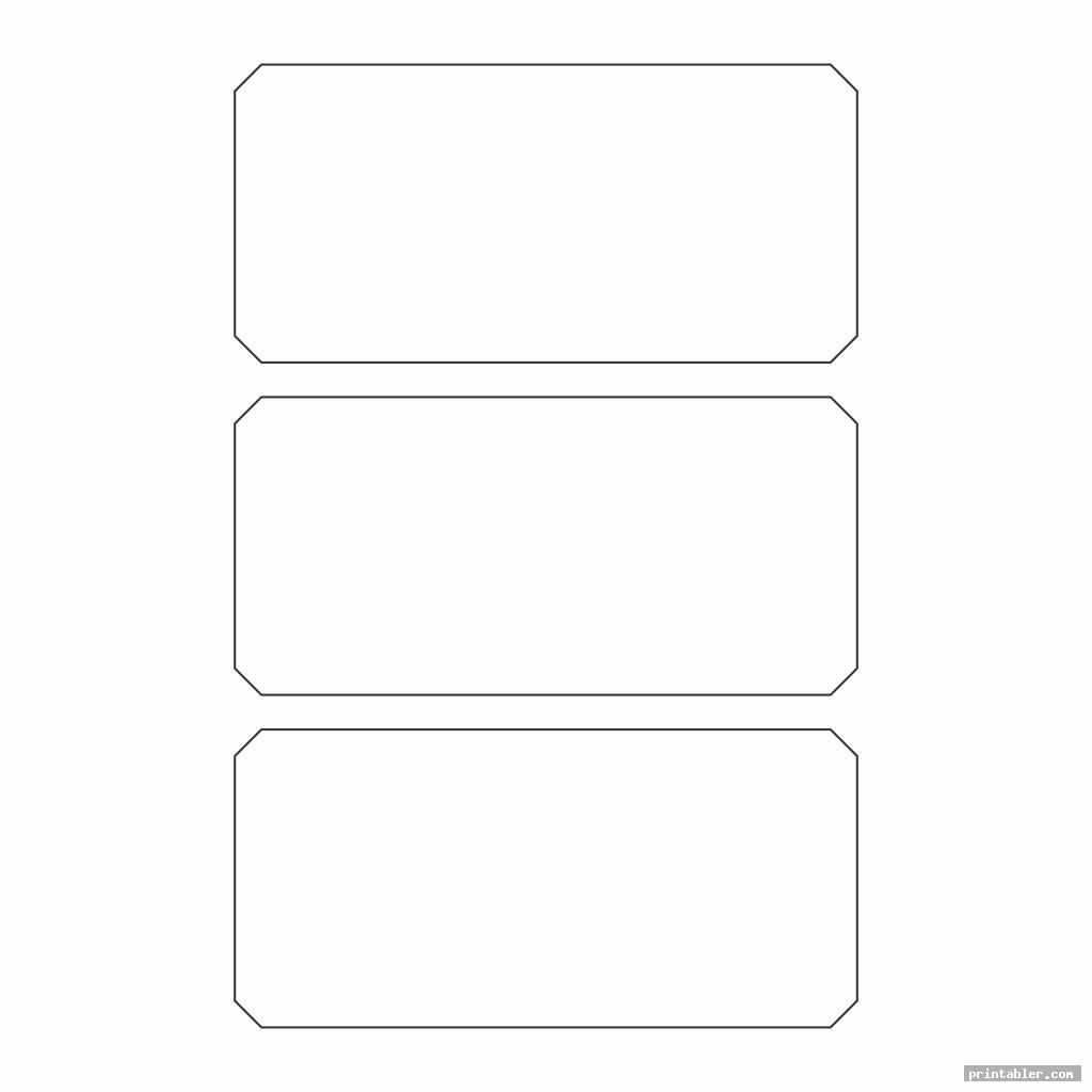 simple rectangle template printable