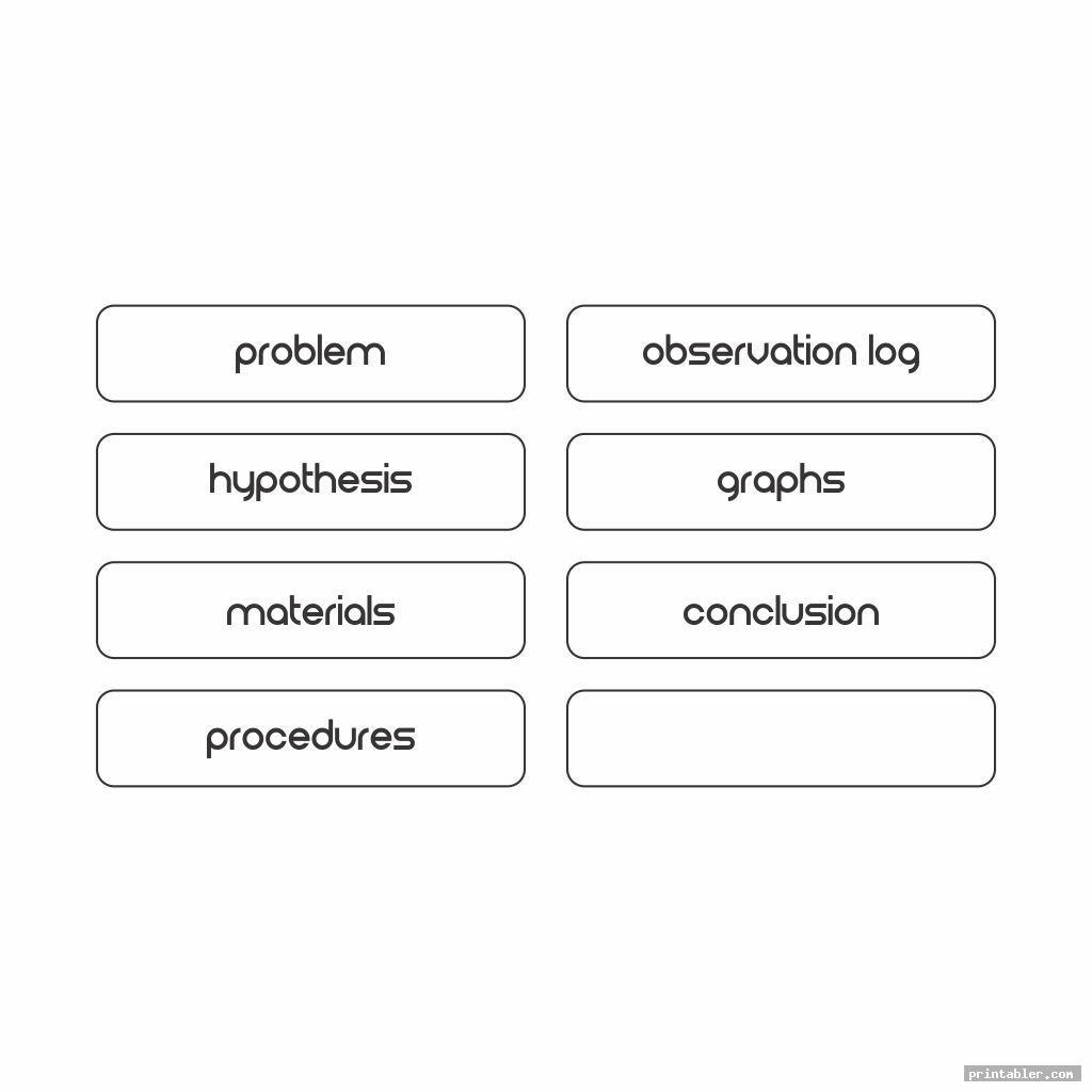 simple science fair labels templates printable