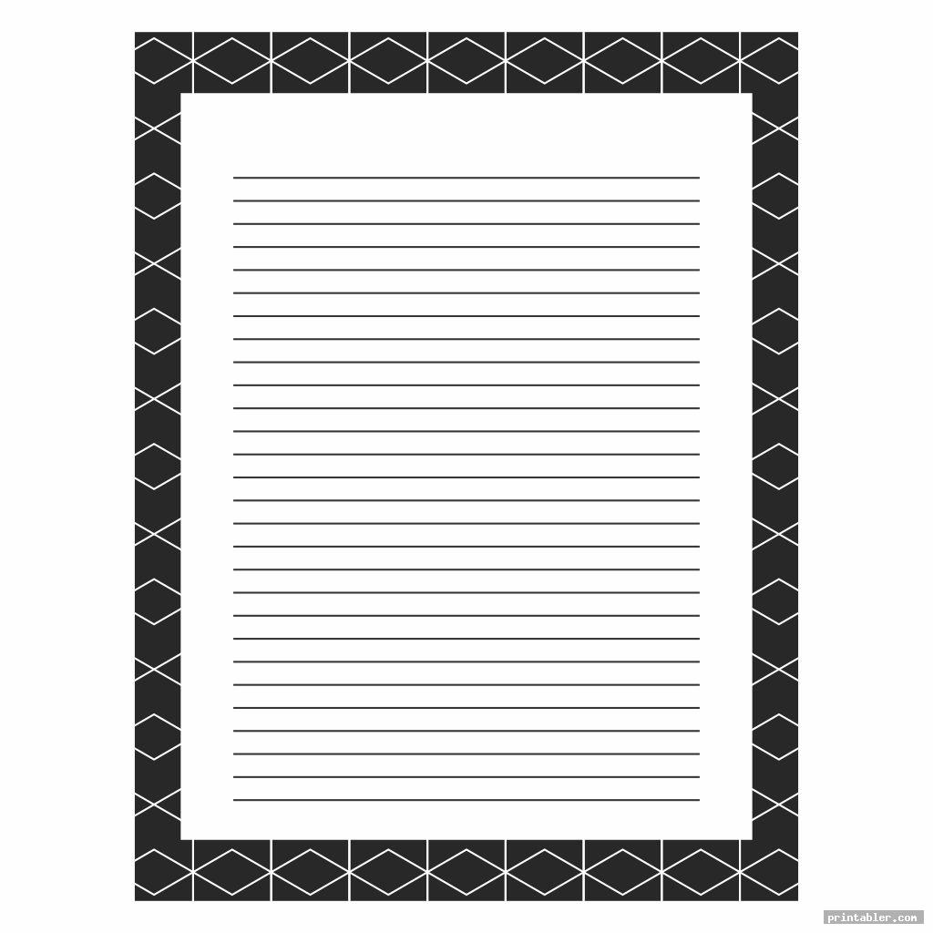 simple stationery black and white printable