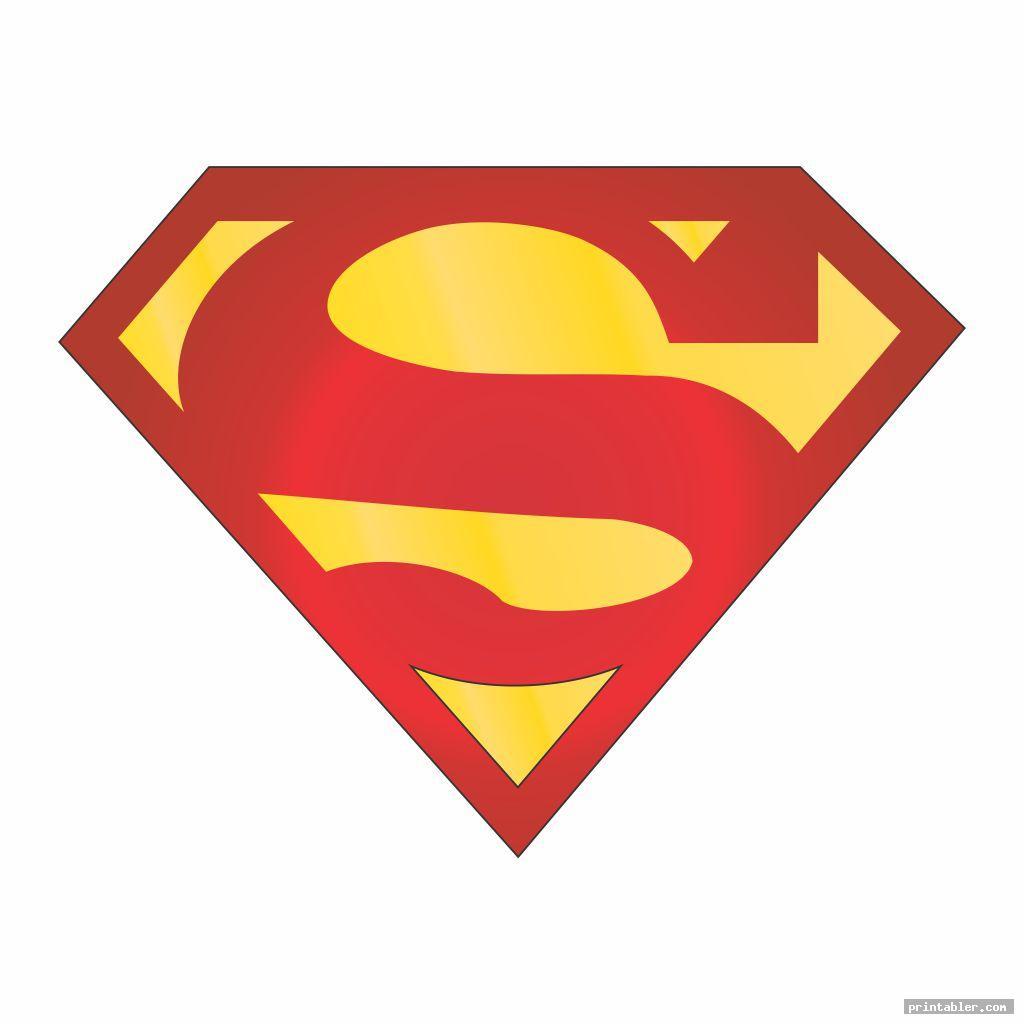 simple superman logo template printable