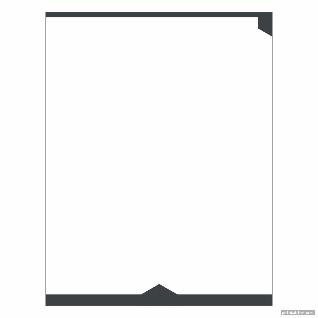 stationery black and white printable image free