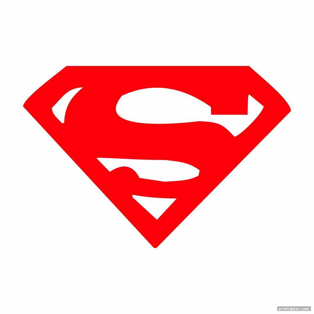 superman logo template printable for kids