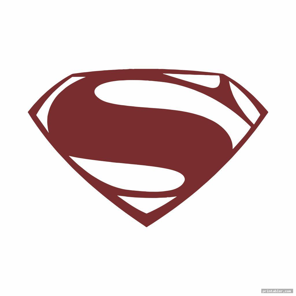 superman logo template printable image free
