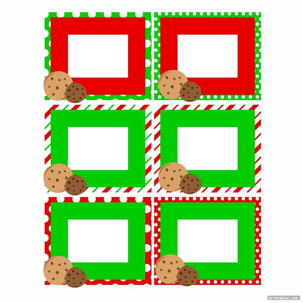 tags cookie exchange template printable