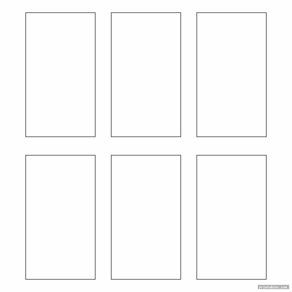 vertical rectangle template printable