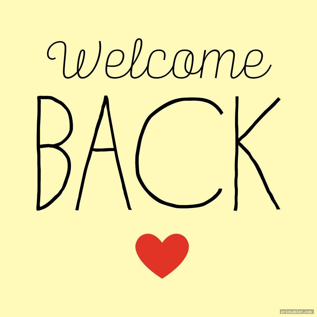 welcome back sign printable image free