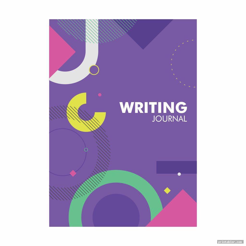 writing journal cover printable image free