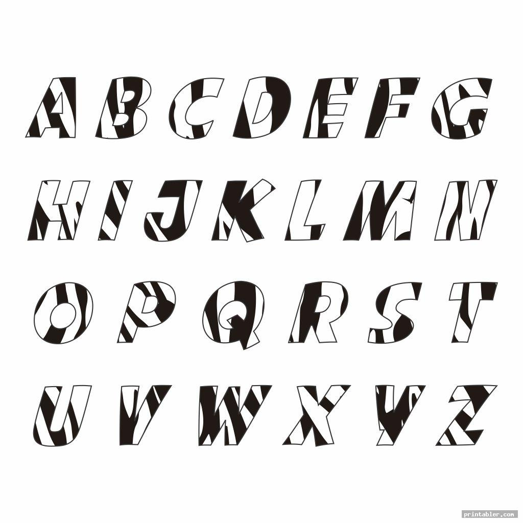 zebra print letters printable image free