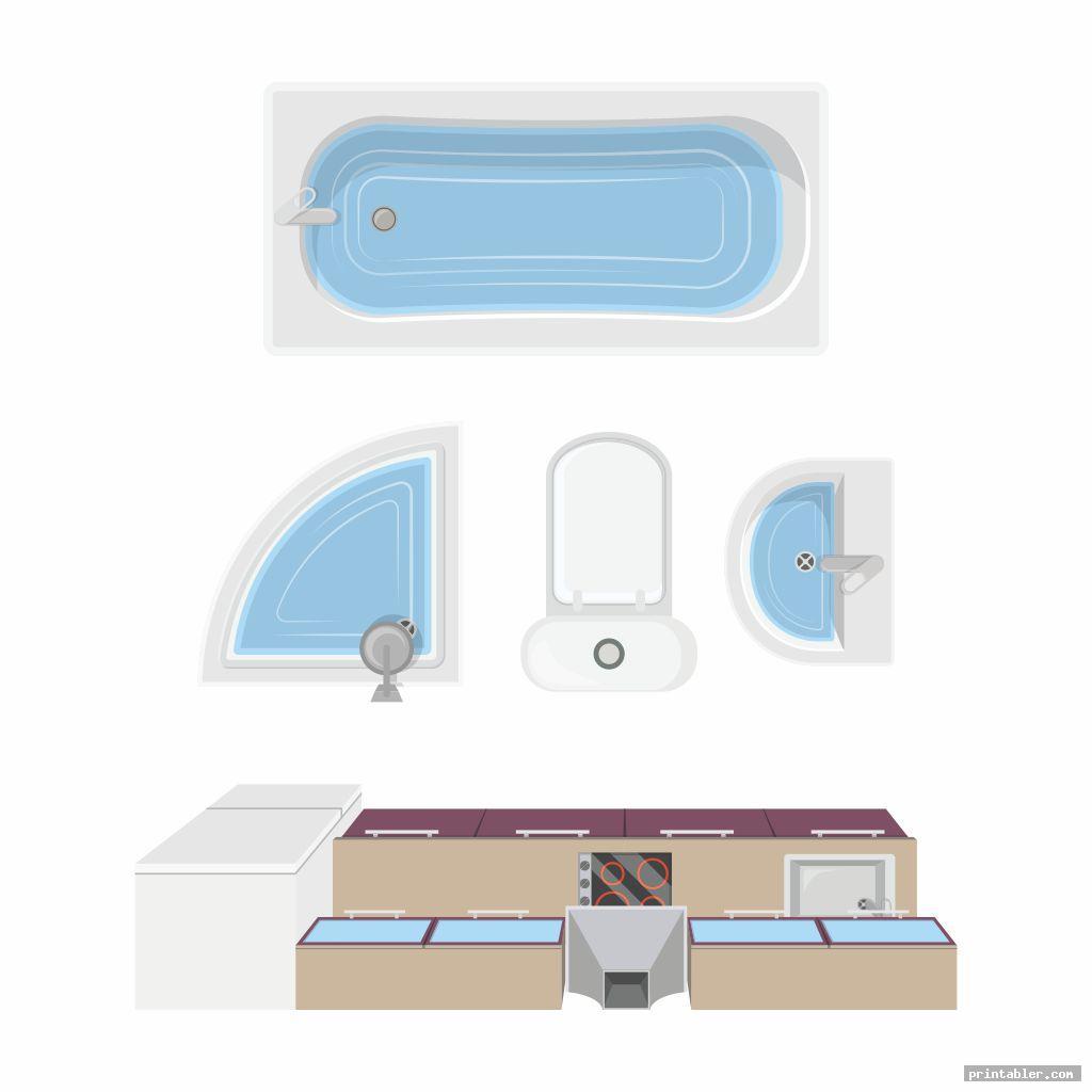 bathroom furniture templates printable