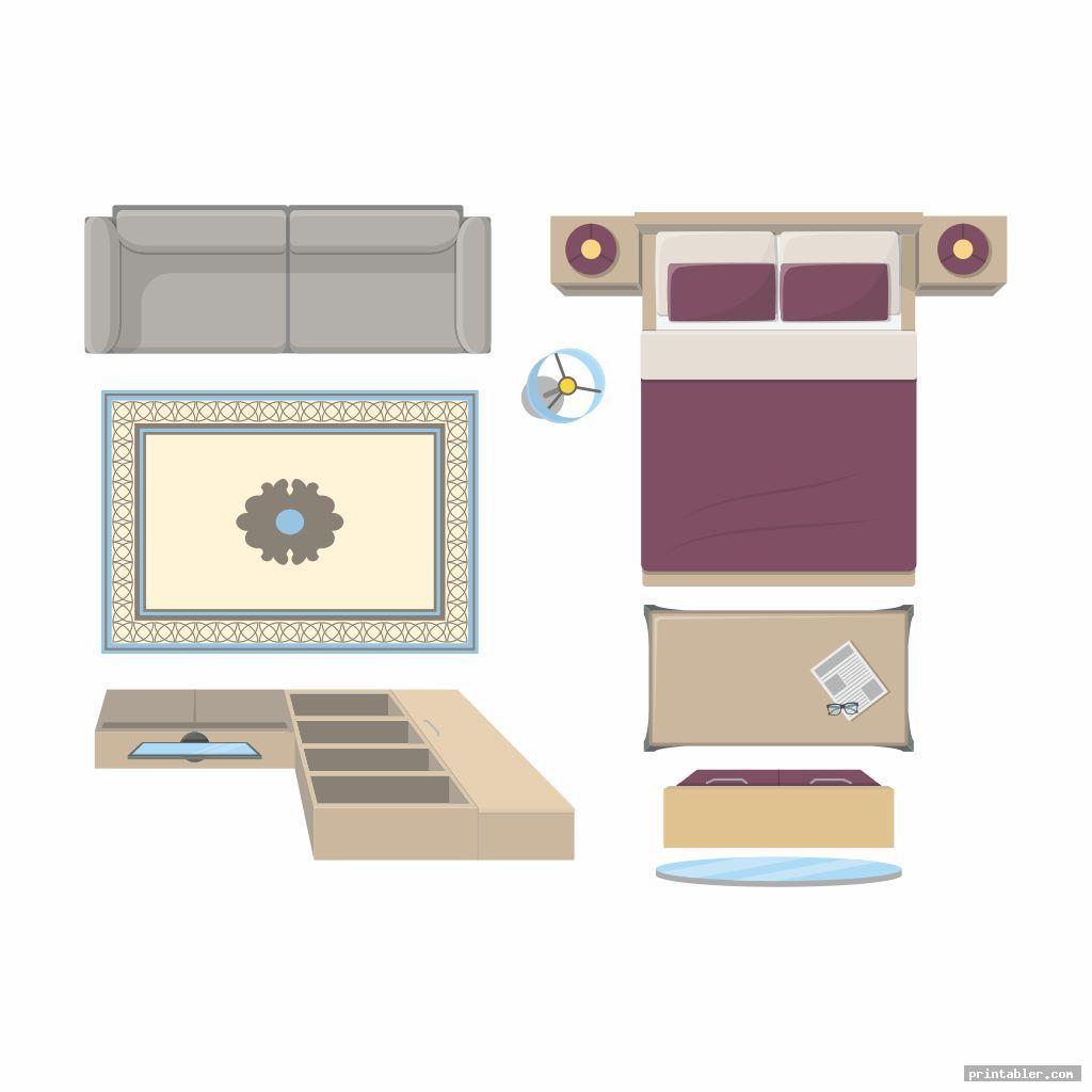 bedroom furniture templates printable