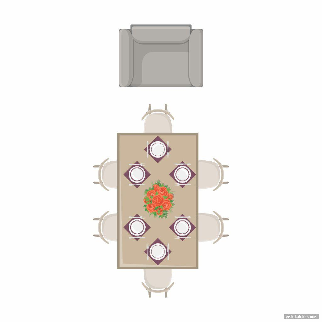 dining room furniture templates printable